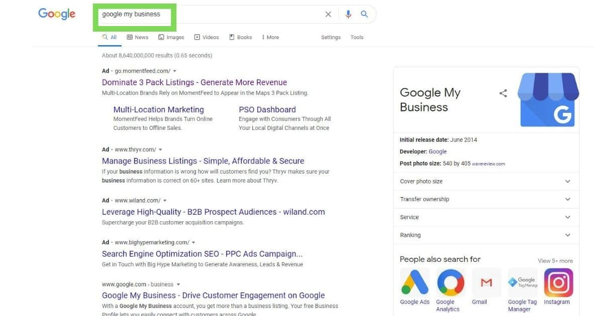 Google my business for small business in Houston tx